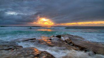 Фото бесплатно облака, камни, солнце