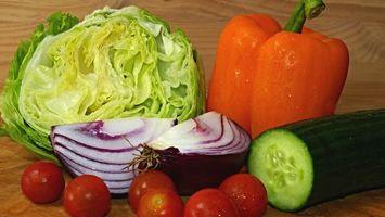 Фото бесплатно овощи, лук, огурец