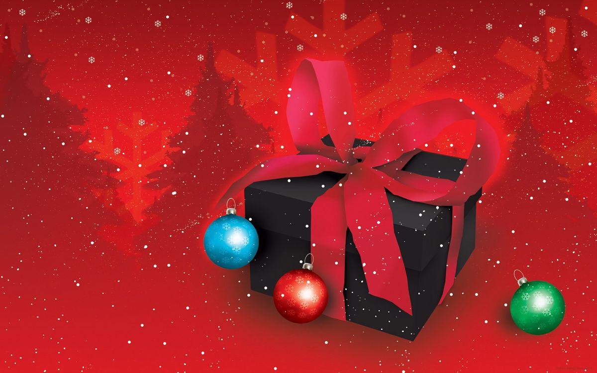 Фото бесплатно подарок, ленточка, шарики - на рабочий стол