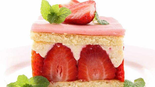 Фото бесплатно торт, ягоды, клубника