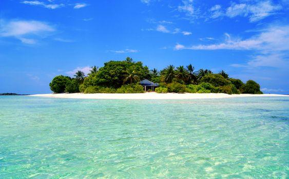 Фото бесплатно пейзажи, море, остров