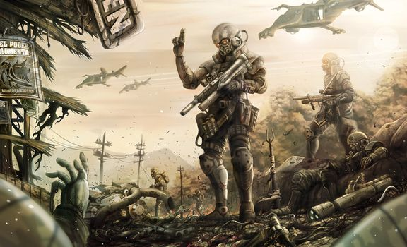 Photo free war, soldiers, helmet