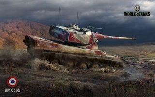 Бесплатные фото world of tanks,amx 50b,танк,французский,камуфляж,маскировка,башня