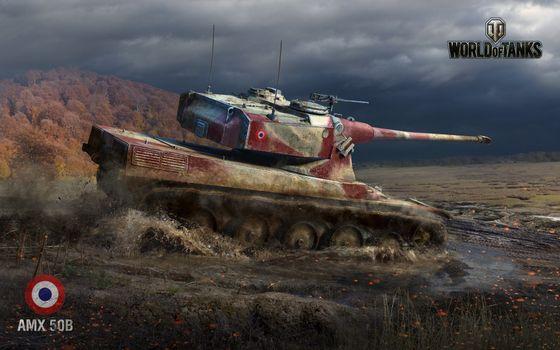 Photo free world of tanks, amx 50b, tank