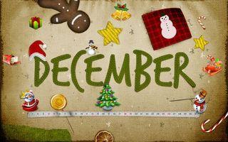 Фото бесплатно заставка, декабрь, месяц