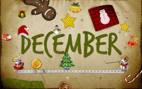 заставка, декабрь, месяц, новый год, праздник