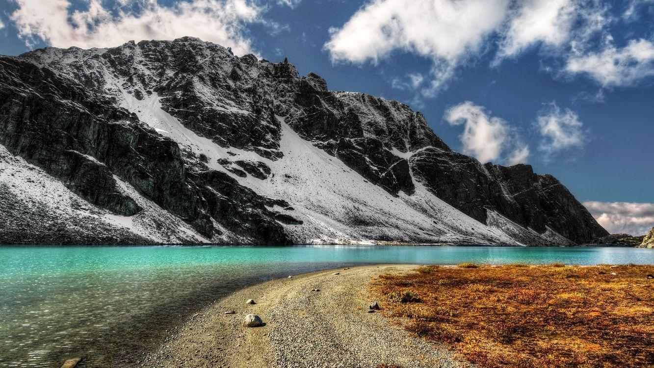 Фото бесплатно река, гора, песок - на рабочий стол
