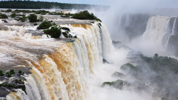 Фото бесплатно водопад, брызги, горы