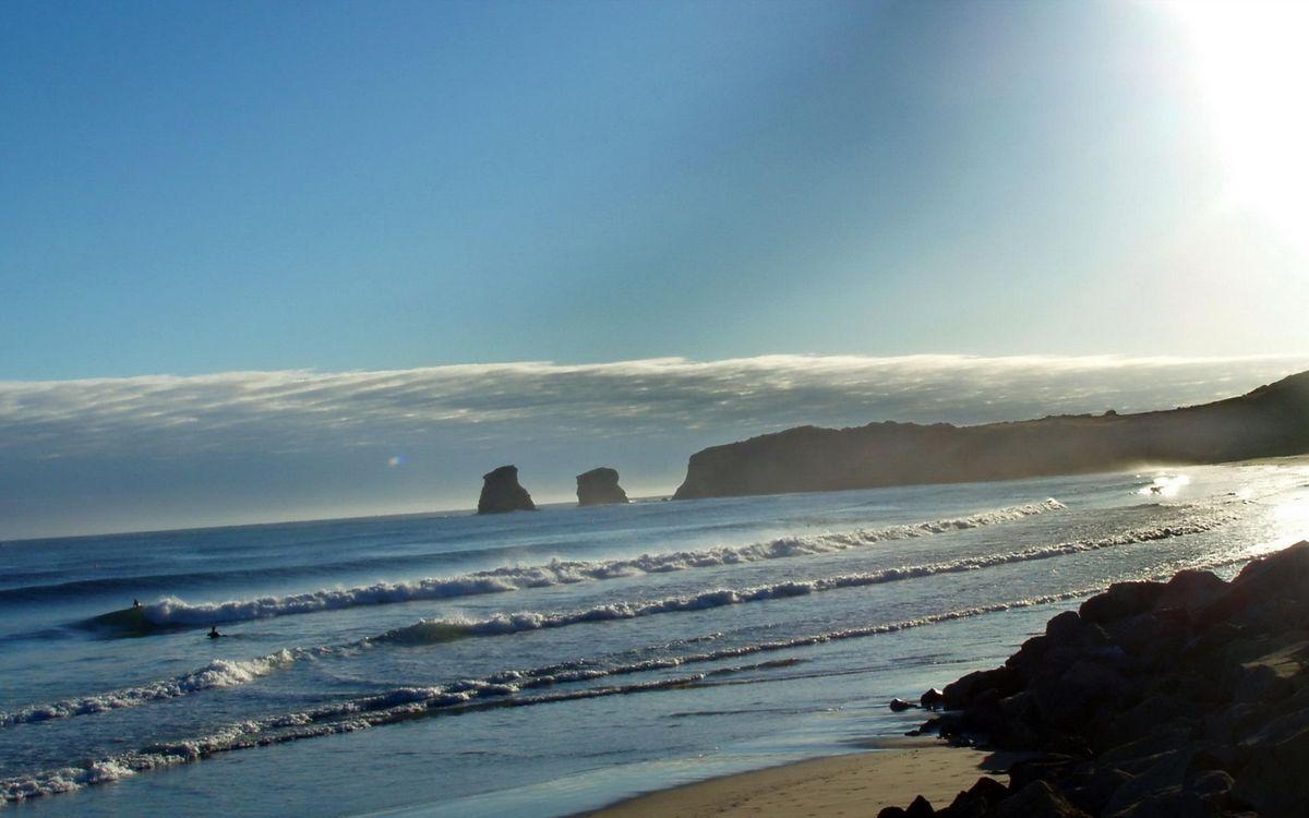 Фото бесплатно песок, скалы, волны - на рабочий стол
