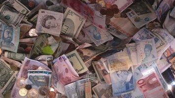 Фото бесплатно деньги, валюта, купюры, билет, банк, франки, доллары, евро, монеты, цент, разное