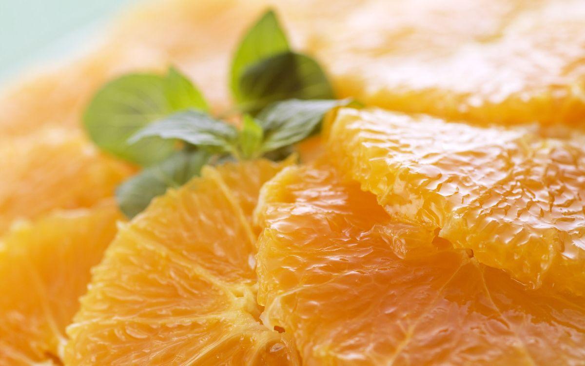 Фото бесплатно дольки, апельсина, мандарина, вкусно, зелень, сочно, еда, еда
