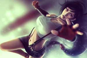 Бесплатные фото final fantasy,tifa,lockhart,seven,fighter,long hair,skirt