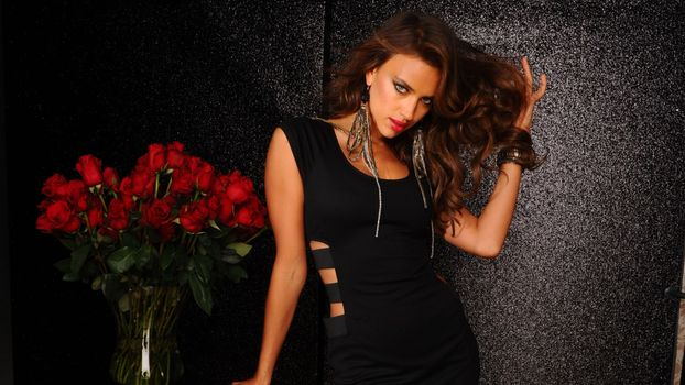 Photo free irina-shayk, black, dress