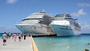 Заставки корабли, большие, люди, пристань, вода, море, разное