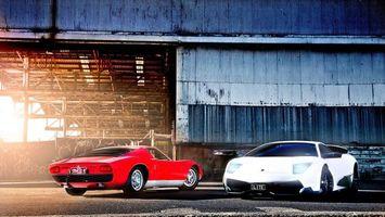 Фото бесплатно ламборджини мурселаго, форд джити, суперкар