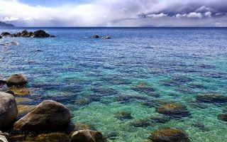 Заставки море, камни, дно