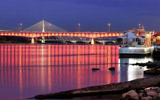 Фото бесплатно мост, вода, море