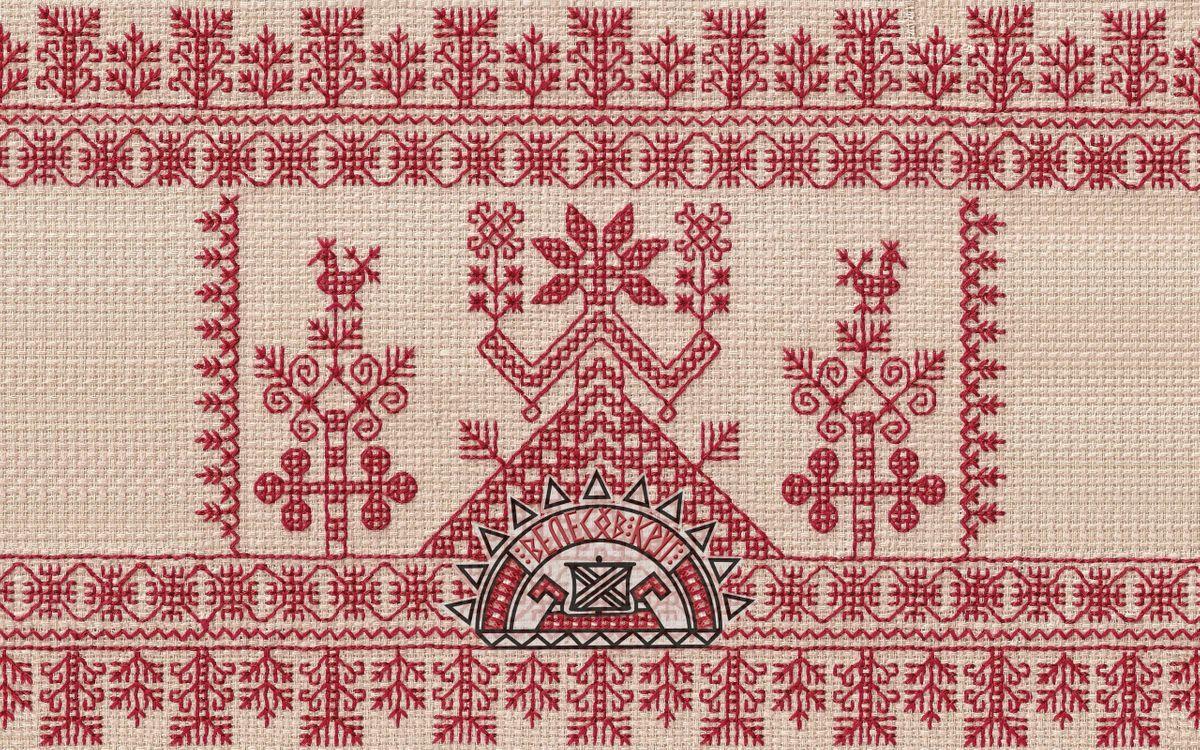Фото бесплатно орнамент, узор, рисунок, нитки, ткань, вышивка, символ, разное, разное