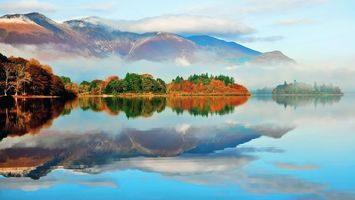 Заставки озеро,лес,горы,пейзажи