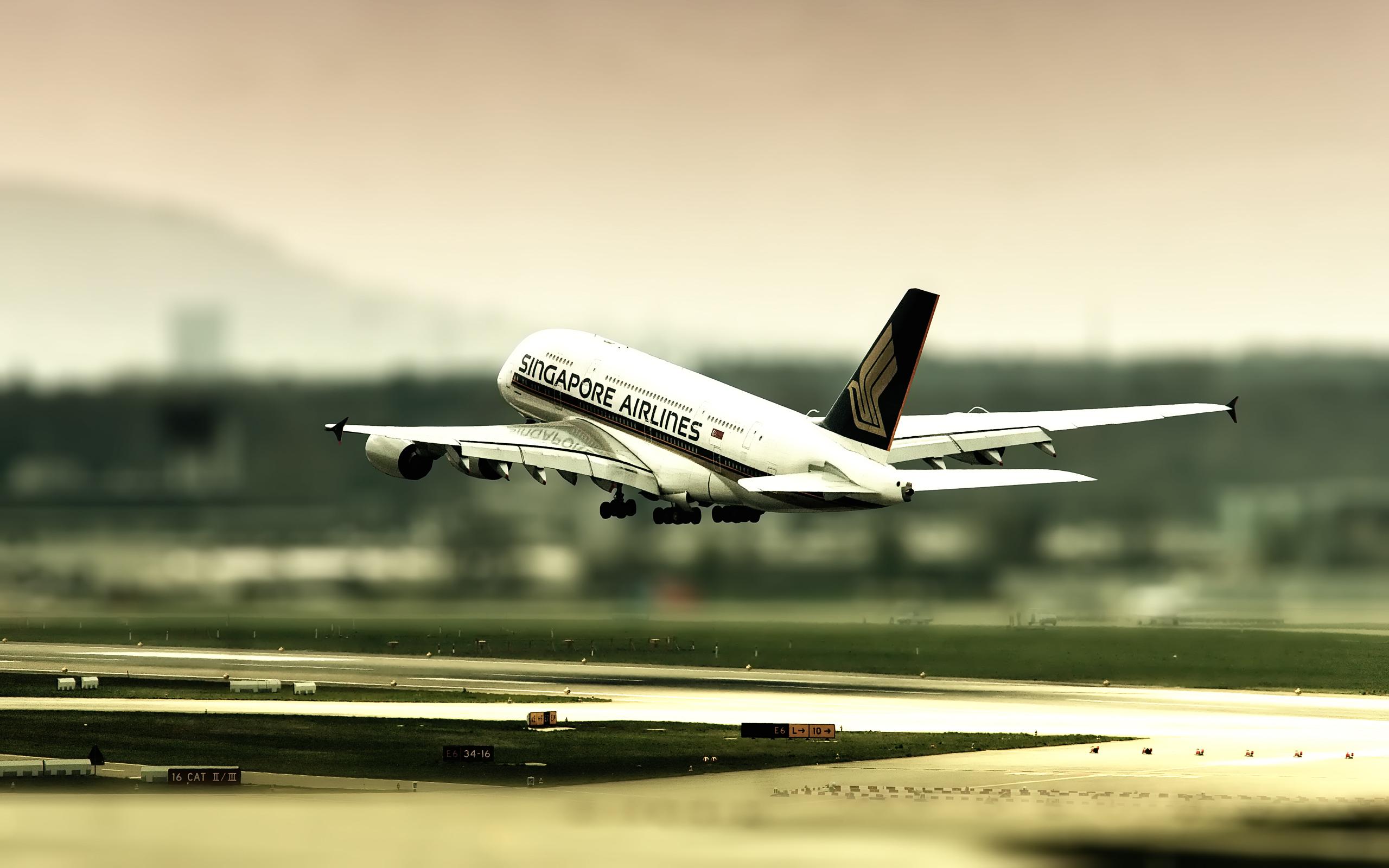 пассажирский, самолет, взлет