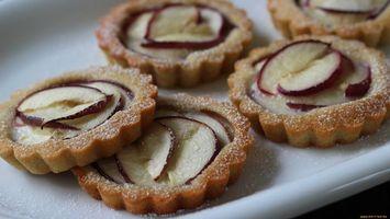 Photo free cakes, sugar, apple