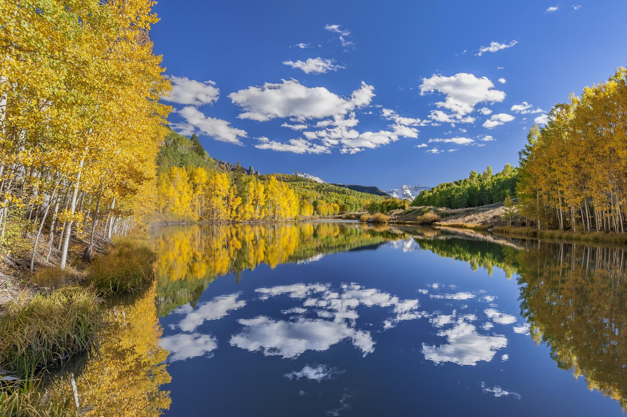 обои Сан Хуан горы, Колорадо, США, осень картинки фото