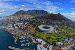 Заставки стадион, горы, вид, высота, панорама, лодки, катера, яхты, море, океан, залив, трава