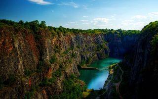 Бесплатные фото ущелье,каньон,склоны,река,вода,пейзажи