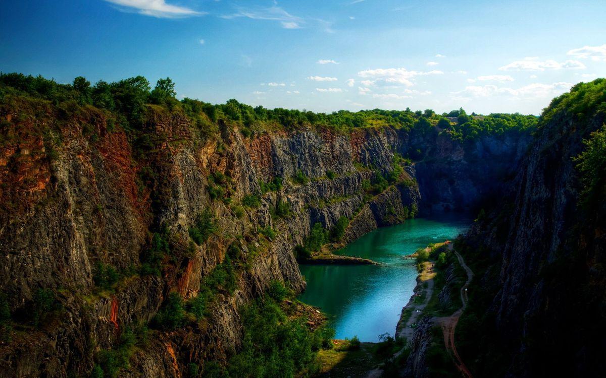 Фото бесплатно ущелье, каньон, склоны, река, вода, пейзажи, пейзажи