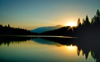 Бесплатные фото вода,небо,река,солнце,лес,сумерки,деревья