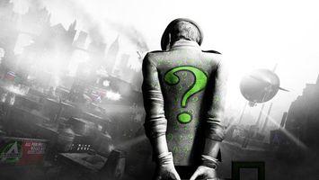 Бесплатные фото batman,человек,загадка,на спине,знак вопроса,зеленый,рисованный