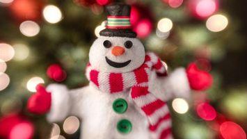 Бесплатные фото шапка,праздник,new year,снеговик,новый год,шарф