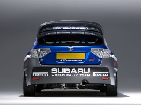 Photo free rally subaru, rally car, spoiler