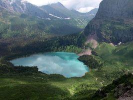 Бесплатные фото озеро,горы,лес,елки,пейзажи,природа