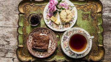 Фото бесплатно чай, сыр, цветок