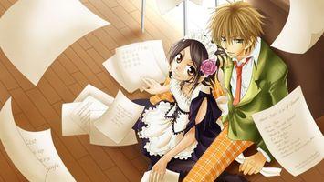 Бесплатные фото девушка,парень,бумага,пол,одежда,галстук,глаза
