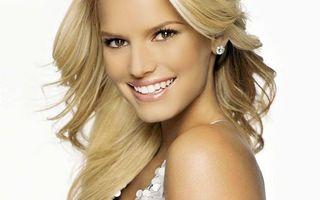 Бесплатные фото девушка,волосы,прическа,блондинка,джесика,симпсон,зубы