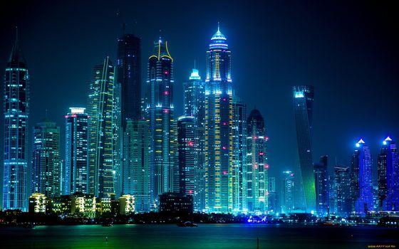 Бесплатные фото дубаи,город,ночь,огни