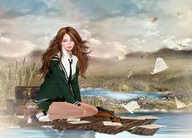 Бесплатные фото фантастическая девушка,девушки,фэнтези,креатив,фантастика,причёска,одежда