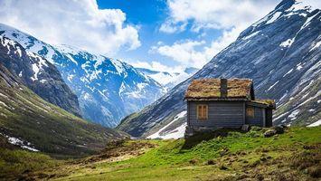 Бесплатные фото горы,снег,вершина,пик,дом,здание,крыша