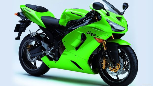 Бесплатные фото kawasaki,салатовый,вид,мотоциклы