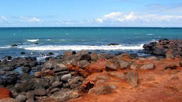 Фото бесплатно море, волны, камни