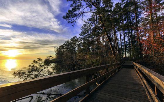 Заставки мостик, мост, деревянный