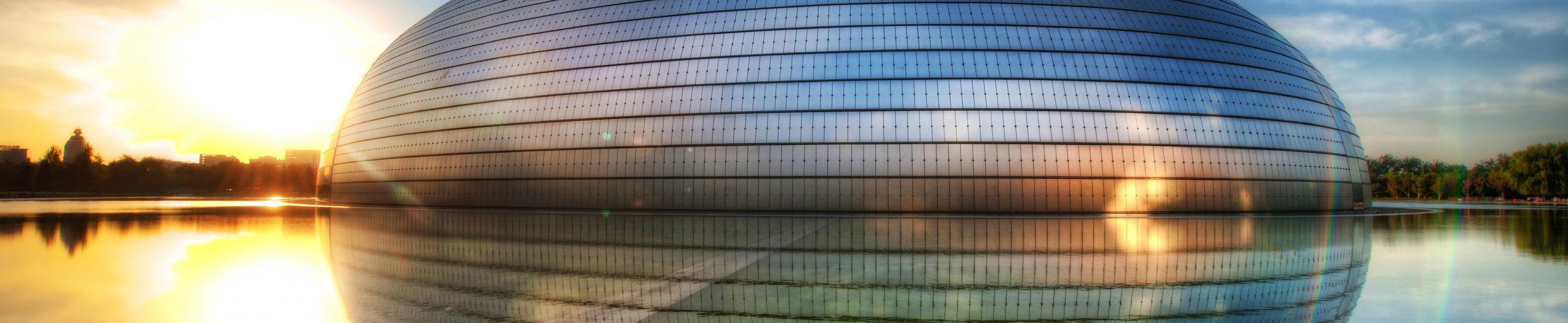 Фото бесплатно национальная опера пекина, центр, искусств, на воде, постройки, архитектура, город, город