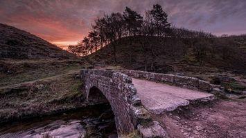 Фото бесплатно река, мост, дорога