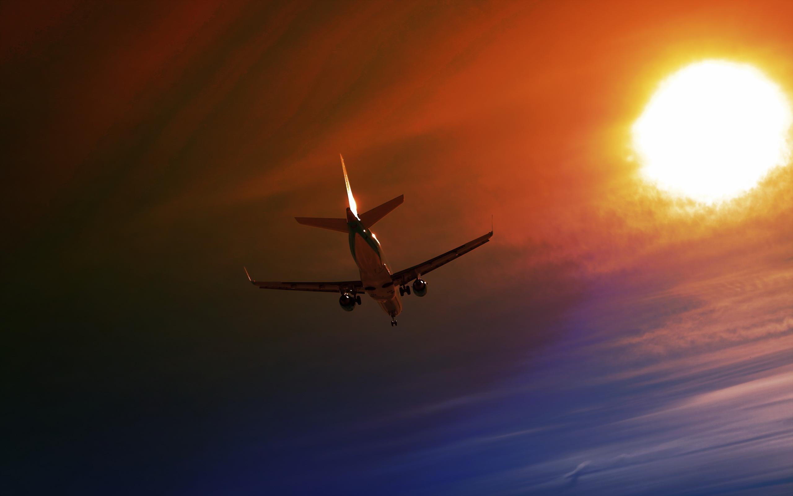 взлет самолет ночь скачать