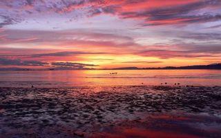 Фото бесплатно закат. солнце, небо, облака