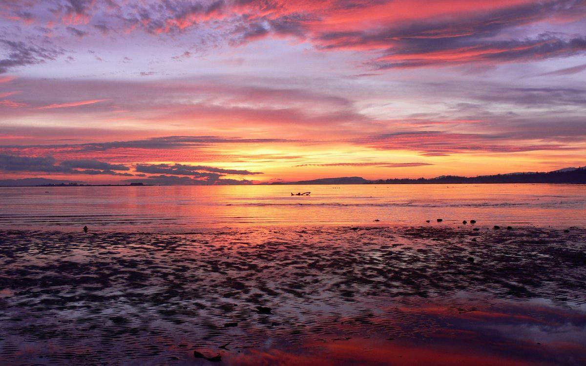 Фото бесплатно закат. солнце, небо, облака - на рабочий стол