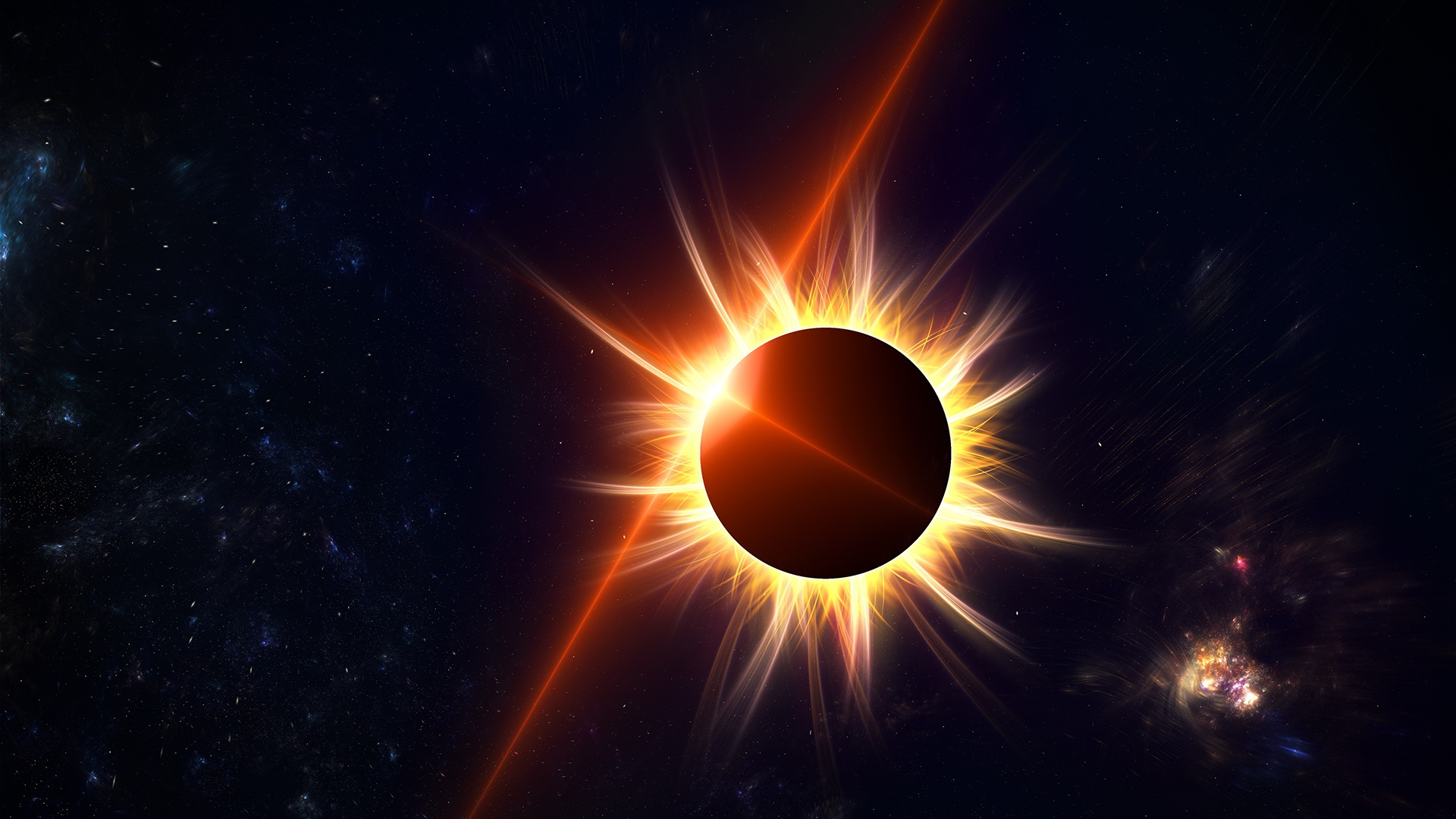 Затмение – астрономический процесс, во время которого одно небесное тело заслоняет свет от другого небесного тела.