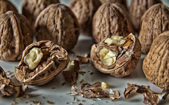 Фото бесплатно орехи, грецкие, скорлупа